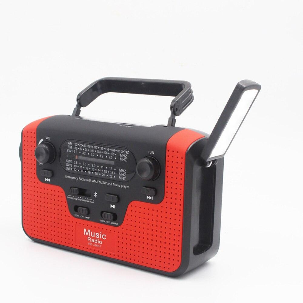 Emergency Solar Hand Crank Dynamo AM//FM Weather Radio LED Flashlight Charger 8G