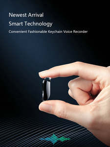 Voice-Recorder Keychain 32GB HD for Lectures Interviews 64GB Long-Battery Life