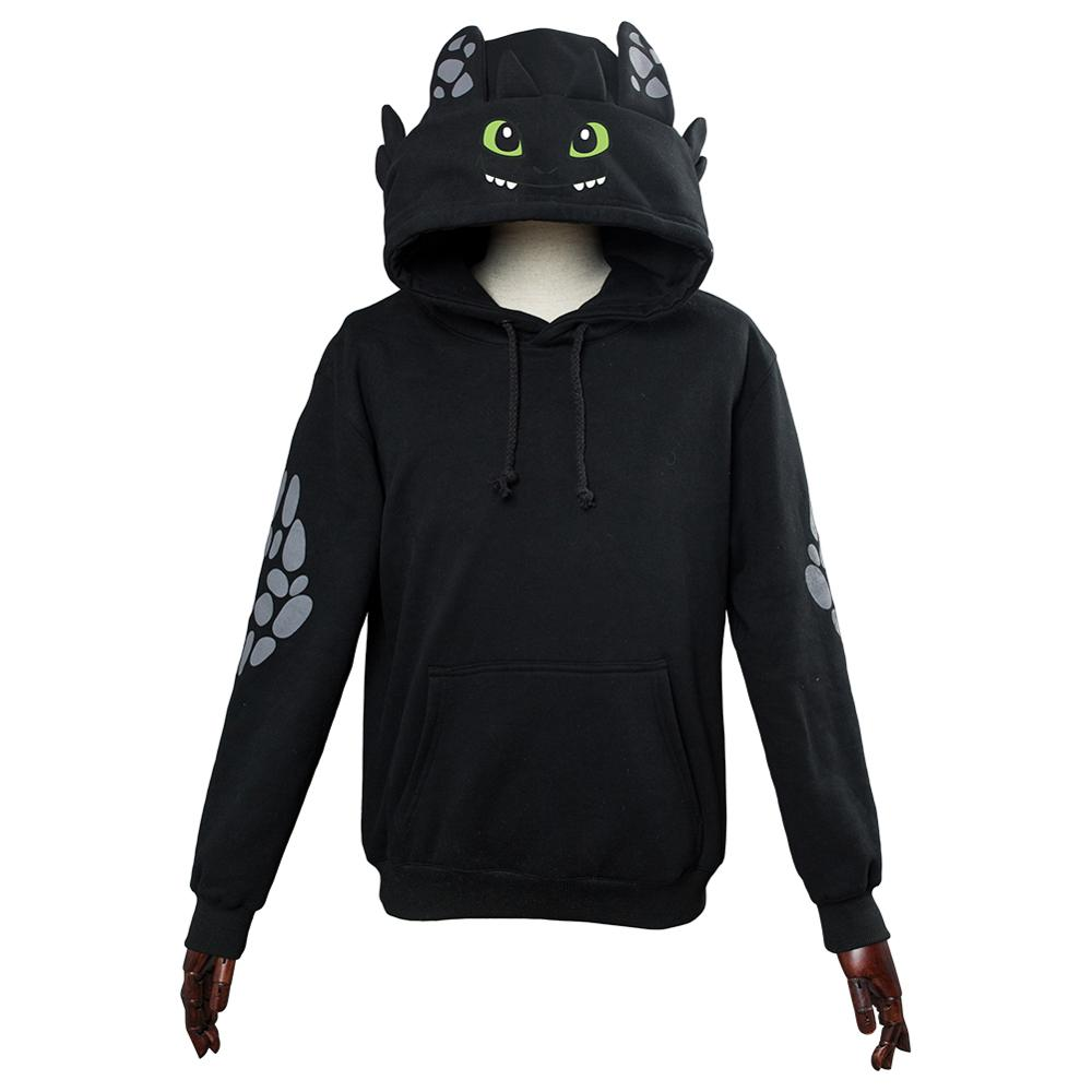 (In Stock) Adult Kids How To Train Your Dragon Hoodie Toothless Cosplay Sweatshirt Casual Pullover Jackets Coat Hooded Hoodie