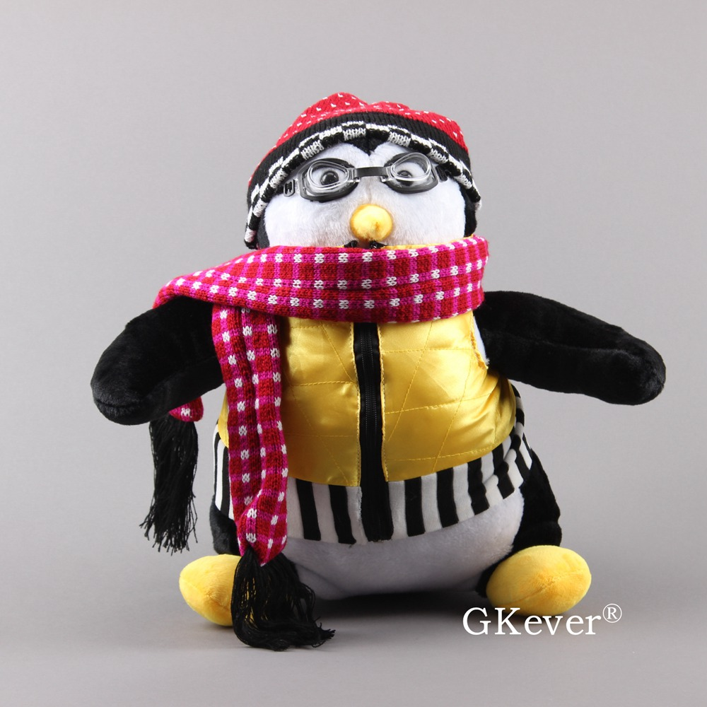 Cute HUGSY Penguin Plush Doll Series Friends Joey Lovely Penguin Soft Stuffed Animals with Scarf Children Gift 18 45cm