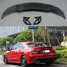 купить For Mercedes-Benz CLA W117 CLA180 CLA200 CLA250 CLA260 Carbon Fiber Rear Trunk Wing Spoiler V Style 2014 - UP в интернет-магазине
