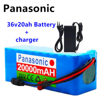 Panasonic 36V Battery 10S4P 42V 20Ah Battery 500W High Power mAh Battery 20000V Ebike Electric Bike Charger BMS + 42V2A Charger