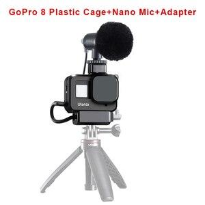 Image 5 - מקורי 3.5MM GoPro מיקרופון מתאם עבור GoPro גיבור 9 8 גיבור 7 גיבור 6 גיבור 5 שחור/HERO5 מושב מיקרופון מתאם כבל AAMIC 001