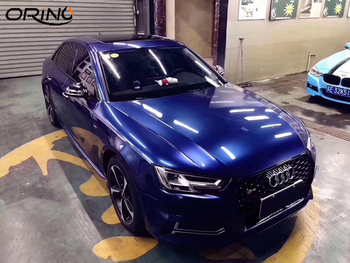 Gloss Metallic Galaxy Blue Vinyl Wrap For Car Wrap Covering Glossy Film With Air Bubble Free Size:1.52*20M