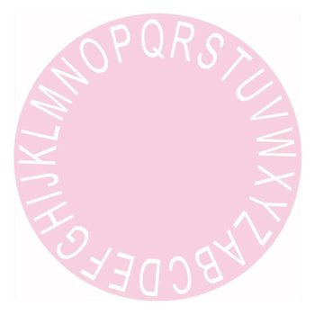 ABC Kids Rug Round 26 Alphabets Rug Baby Mat Nursery Activity Rugs Play Mat Circular Rug Pink 120cm opp bag image