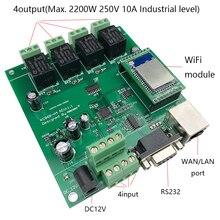 Kincony 4CH WiFi Φ Control ler Domotica Home Inteligente Модуль Автоматизации умного дома Control Switch System 250V10A