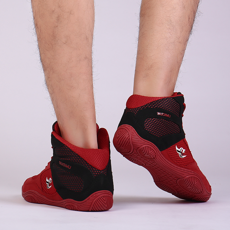 2020Professional Mens Wrestling Shoes Boxing Shoes Breathable Flighting Boxing Sneakers Quality Mesh Size37 47Wrestling Sneakers