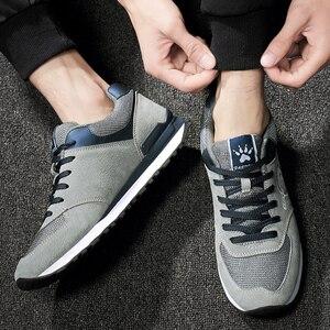 Image 4 - Valstone الرجال أحذية رياضية جلد طبيعي وشبكة الهواء تنفس المدربين خفيفة الوزن في الهواء الطلق أحذية مشي الربيع الصيف يوميا