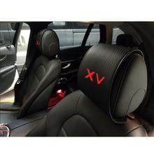 Car-Seat-Covers Neck-Rest-Cushion Massager Subaru Interior for XV Headrest Carbon-Fiber