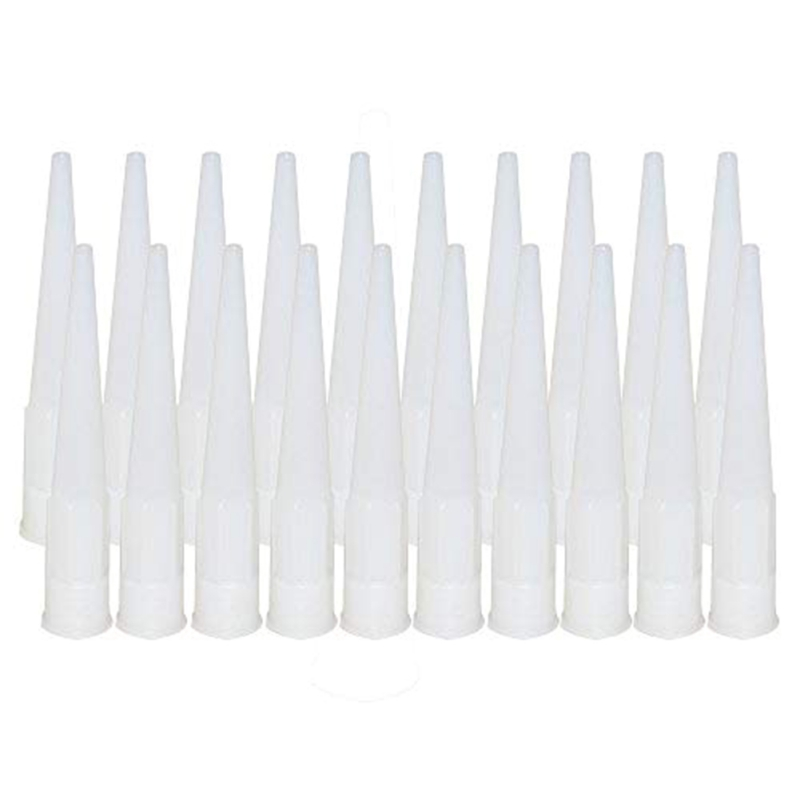 20pcs Plastic Universal Caulking Nozzle Glass Glue Tip Mouth Home Improvement Construction Tools