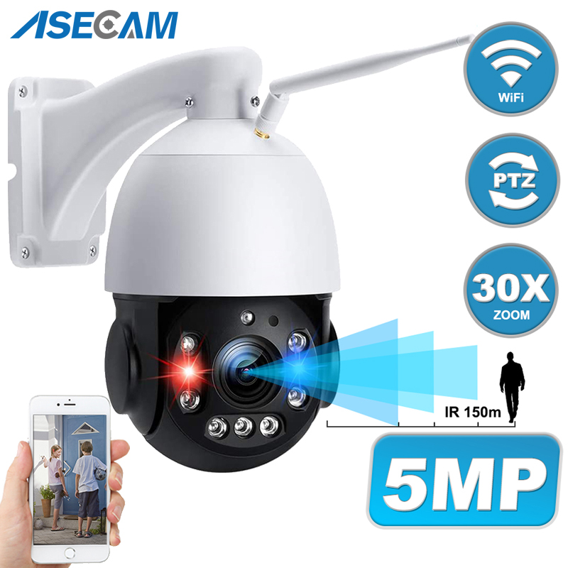 5MP 30X Zoom caméra IP Wifi Onvif PTZ vitesse dôme détection humaine fente pour carte SD CCTV H.265 P2P caméra de Surveillance sans fil 1