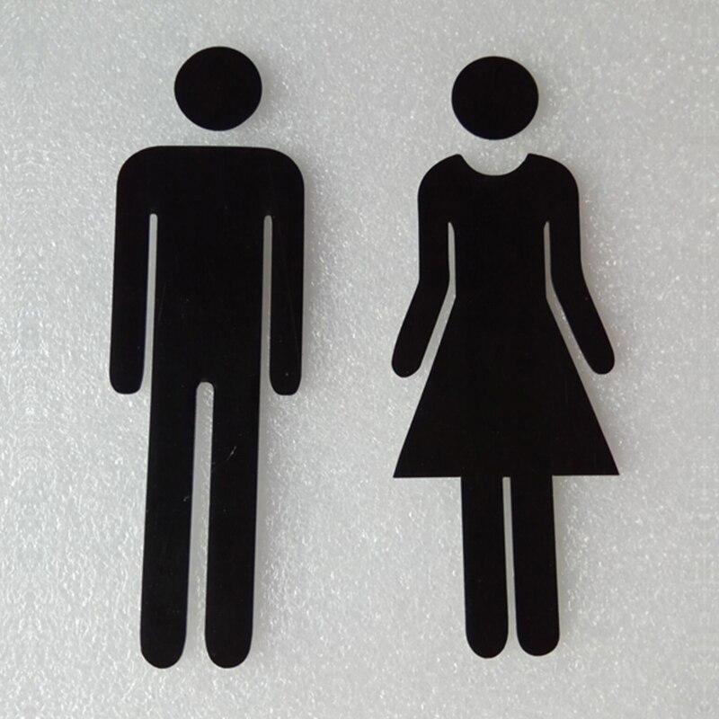 New Door Sign MEN /& WOMEN Set Toilet//Loo//Bathroom//Restroom//WC Adhesive Plaque