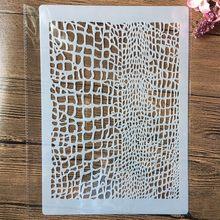 A4 29cm textura líquida de madeira diy estênceis estênceis pintura de parede scrapbook coloração gravação álbum modelo decorativo