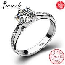Lmnzb твердое кольцо из стерлингового серебра 925 пробы 1 карат
