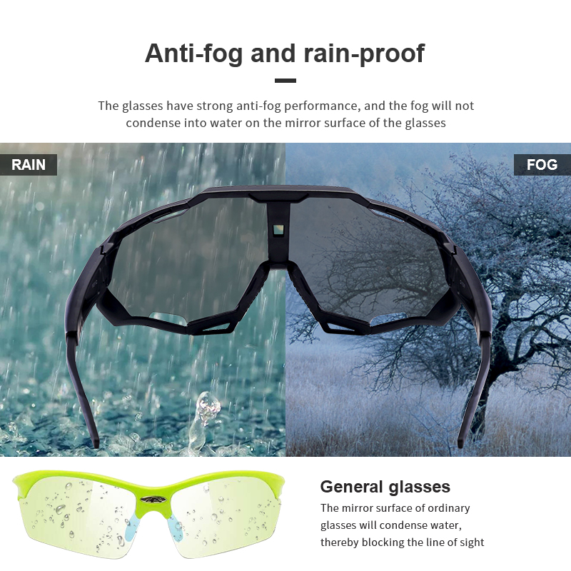 UV400 Outdoor Anti-wind Sport Sunglasses Eyewear Colorful Sports Cycling Sunglasses Sun Glasses Bicycle Glasses Men Women