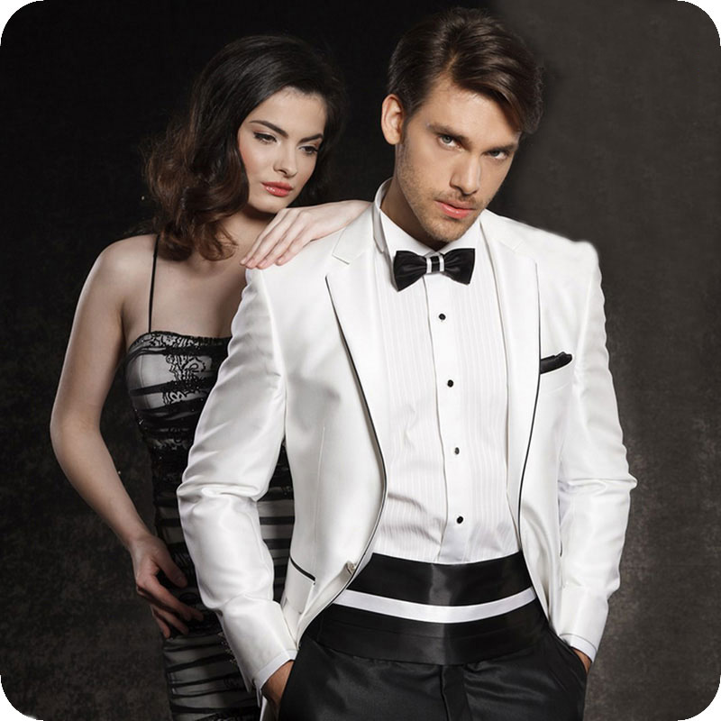 Mans Suits For Wedding Evening Party Blazer Tailor Made Slim Fit Groom Tuxedos Best Man Wear Prom Dresses 2 Pieces(Jacket+Pants)