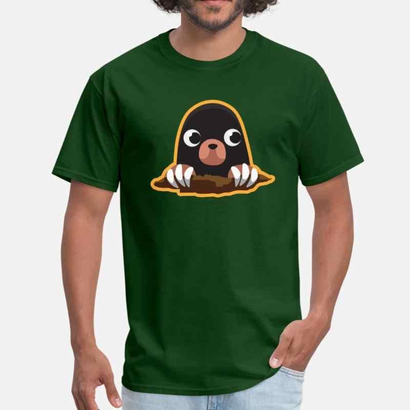 Personalize mole doce bonito trench mole cube hill pequeno tshirt para homens das mulheres clássico legal camiseta masculina de manga curta camiseta