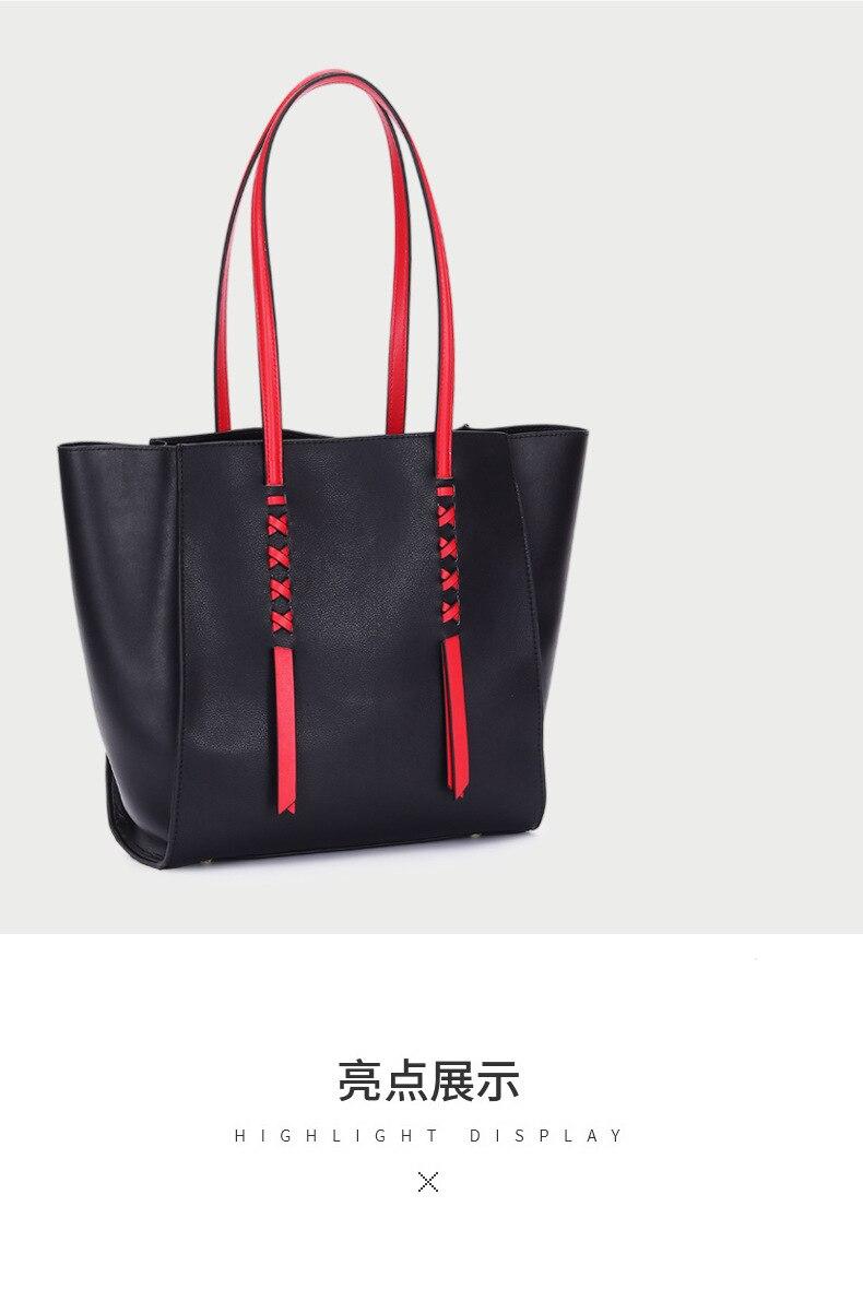 TOP BRAND WOMEN BAG Leather Female Bag Silk Scarf Leather Solid Color Saddle Bag Wide Shoulder Strap Contrast Color Handbag