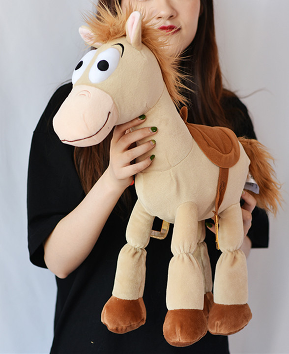 """Official Toy Story BULLSEYE Plush Pillow  Woody Horse Pet Doll 20/"""" Gift"""