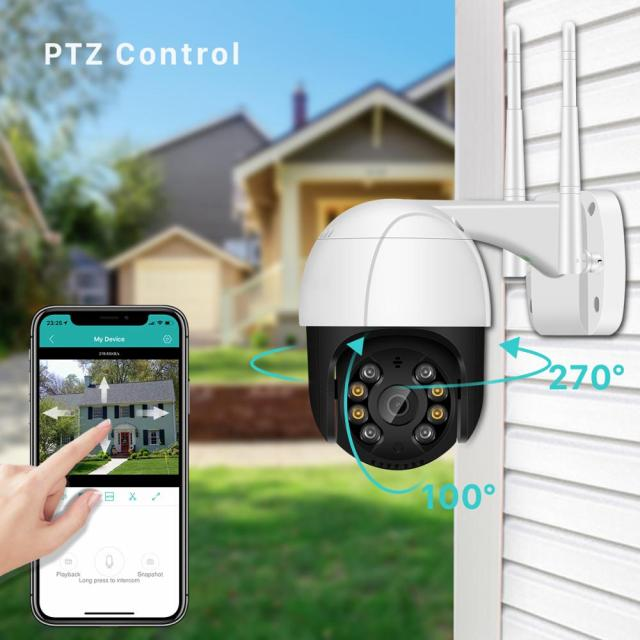 1080P PTZ Wifi IP Camera Outdoor 4X Digital Zoom AI Human Detect Wireless Camera H.265 P2P ONVIF Audio 2MP Security CCTV Camera 2