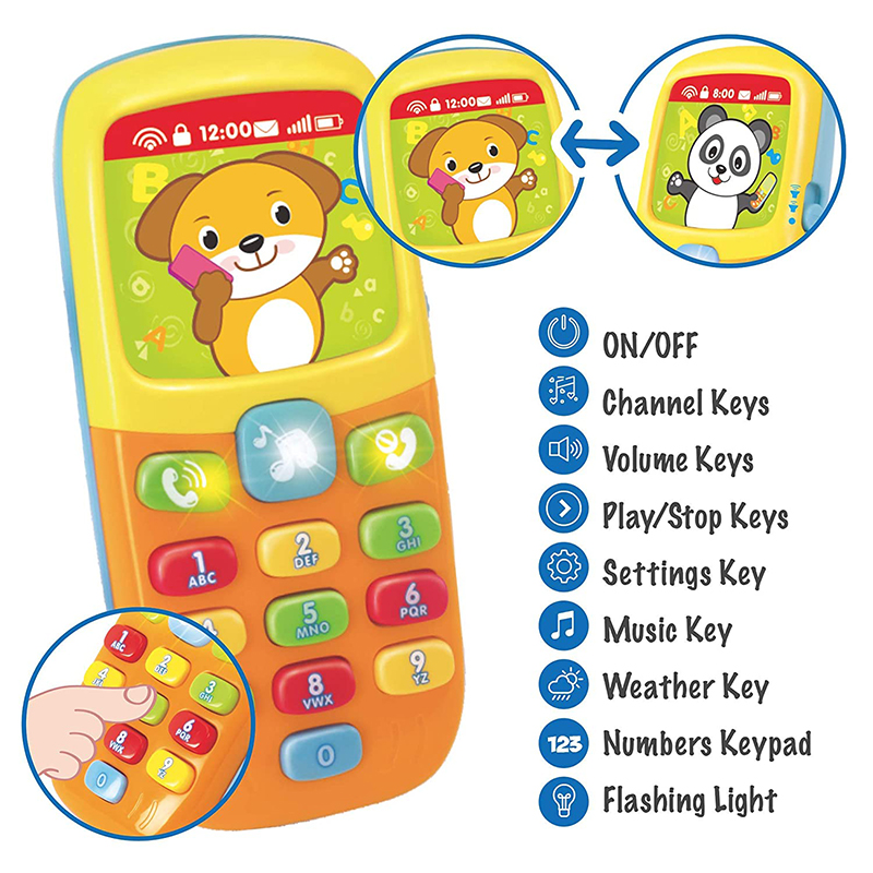 HOLA 956 Vocal Toy For Baby Newborns 0-12 Months Baby Phone Toy For Toddlers Increasing Baby IQ Educational Toys For Infant Gift