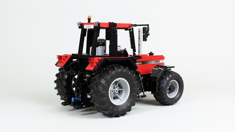 Nova tecnologia legoins bloco de construção rc trator diy montagem e construção do brinquedo natal das crianças modelo presente MOC-54812