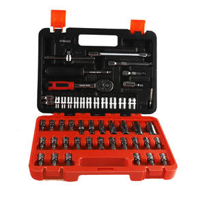 53pcs Socket Ratchet 14 Car Repair Tool Case Precision Sleeve Universal Joint Hardware Kit Auto Repairing Hand Wrench Tool Set