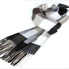 Зимний европейский и американский модный шарф Мужской нагрудник толстый подлинный британский клетчатый теплый шарф в клетку