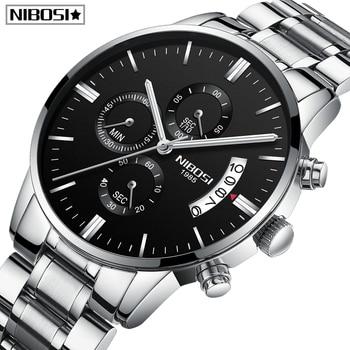 NIBOSI Men Watches Relogio Masculino Famous Top Brand Luxury Men's Fashion Casual Dress Watch Military Quartz Orologio Quarzo
