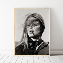 Sexy Model Brigitte Bardot With Cigar Art Canvas Poster Painting Oil Wall Picture Print Modern Home Bedroom Decoration Artwork