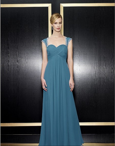 Maxi Formal Gown 2016 New Design Vestidos De Festa Beaded Bridal Chiffon Long Party Evening Elegant Mother Of The Bride Dresses