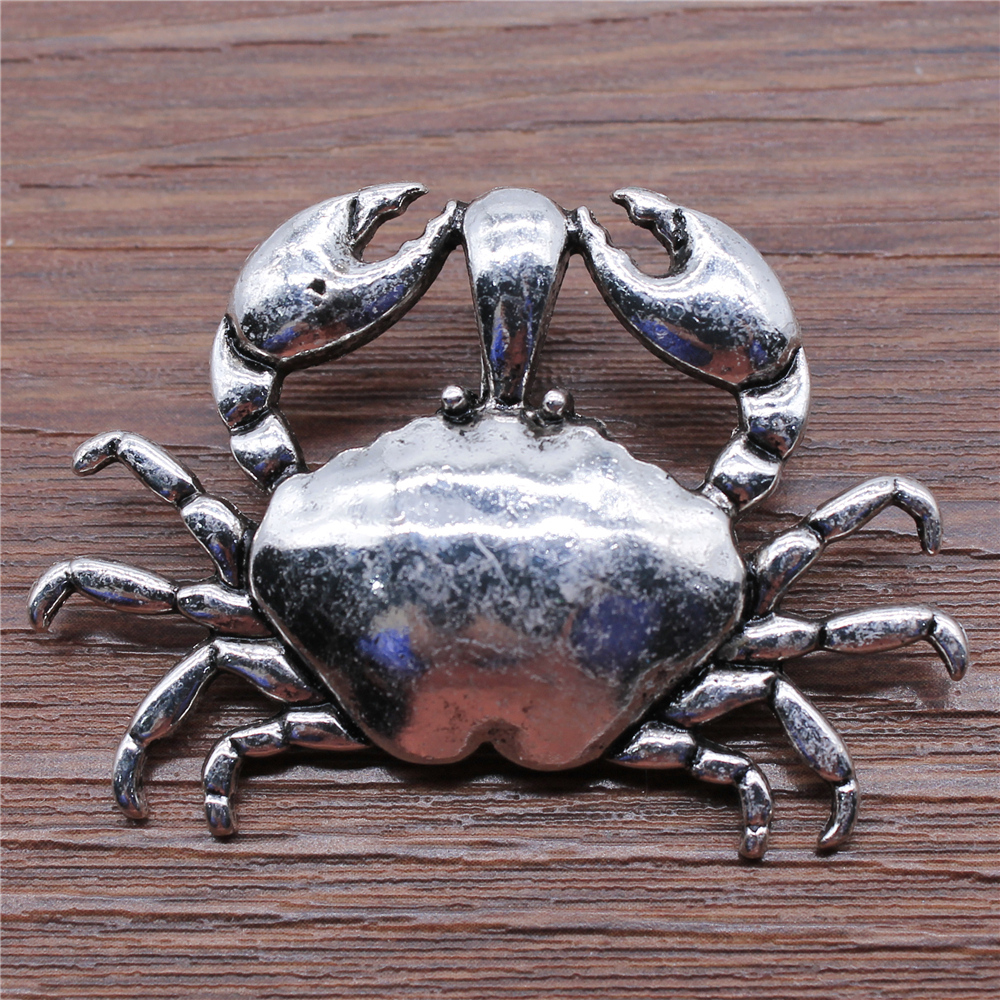 50pcs Crab charms pendant 15x16mm antique silver ornament accessories jewelry making DIY handmade craft base material