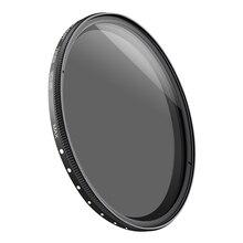 K & F konsept cam ince filtre değişken nötr yoğunluk ayarlanabilir ND 2 400 49/52/55/58/62/67/77/82mm fader DSLR