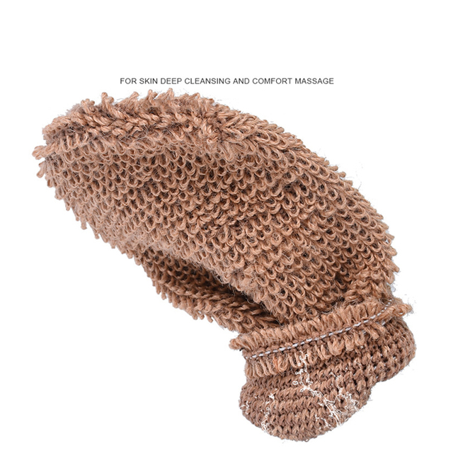 Portable Bath Gloves Exfoliating Skin Wash Towel Massage Back Shower Scrubber Plant Fiber Cleaning Towel 4
