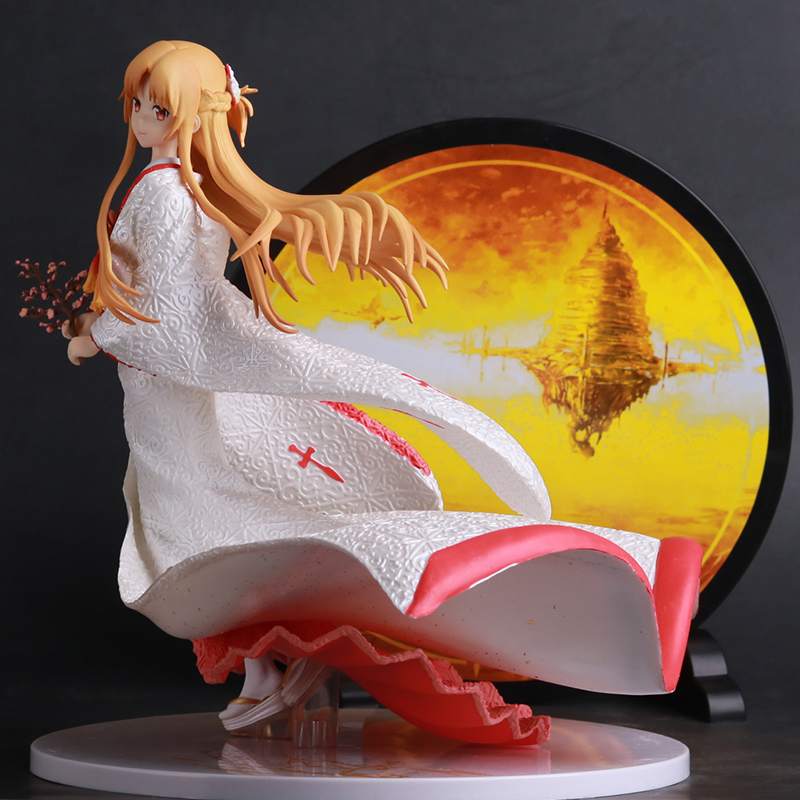 Cool ! Asuna's Hand-Made White Innocent Kimono Girl Model Ornaments PVC Model Size:25*32CM 1
