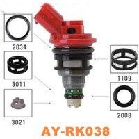 40 peças/set kit de reparo do injetor de combustível da peça de automóvel para nissan oem 16600-1p102 viton o anel filtro pintle cap AY-RK038