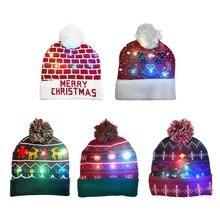Светодиодный светильник вязанная Рождественская шапка бини северный