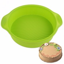 Round Silicone Birthday Cake Mold Pan High Temperature Resistant Queen Moon Molds Microwave Oven Baking Tools Home