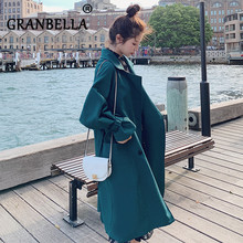 Loose Long Autumn Coat New Fashion Waist Belt Double Breasted Trench Coats All