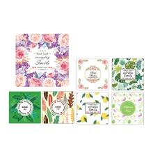 20pcs/Lot Lovely Flower Leaves Handmade Cake Packaging Sealing Label Kraft Sticker Baking DIY Gift Stickers