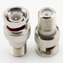 10pcs BNC Male Plug to F Type Female Jack TV Adapter RF Coax Connector  adaptor