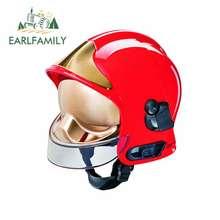EARLFAMILY-pegatina fina para casco de fuego, Protector de puerta de coche, calcomanías de Material de vinilo para JDM, SUV, RV, 13cm