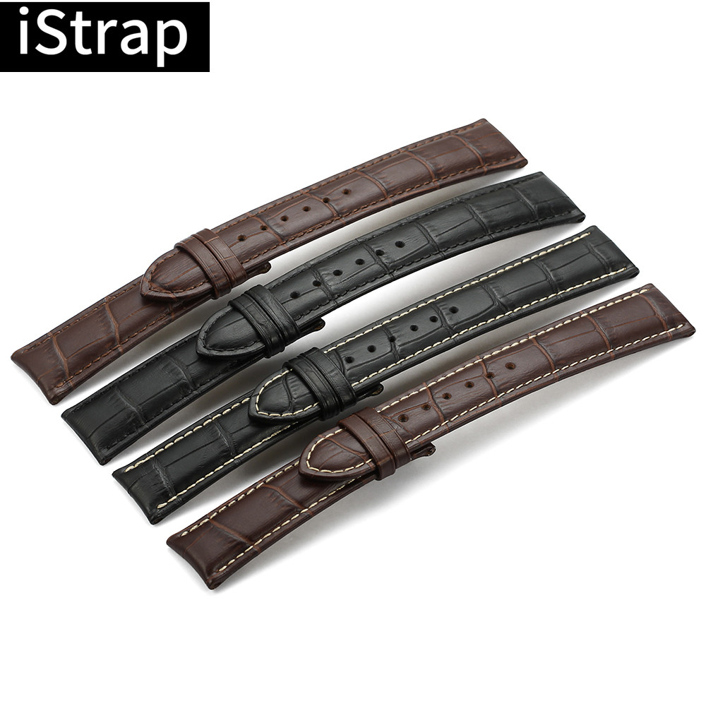 IStrap Calf Leather  Watch Band Watch  Strap 12 13 14 16 18 19 20 21 22 24mm For Omega Victorinox Certina Blancpain Iwc Seiko