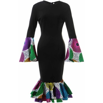 Shenbolen African dresses for women cotton material african clothing traditional Ankara