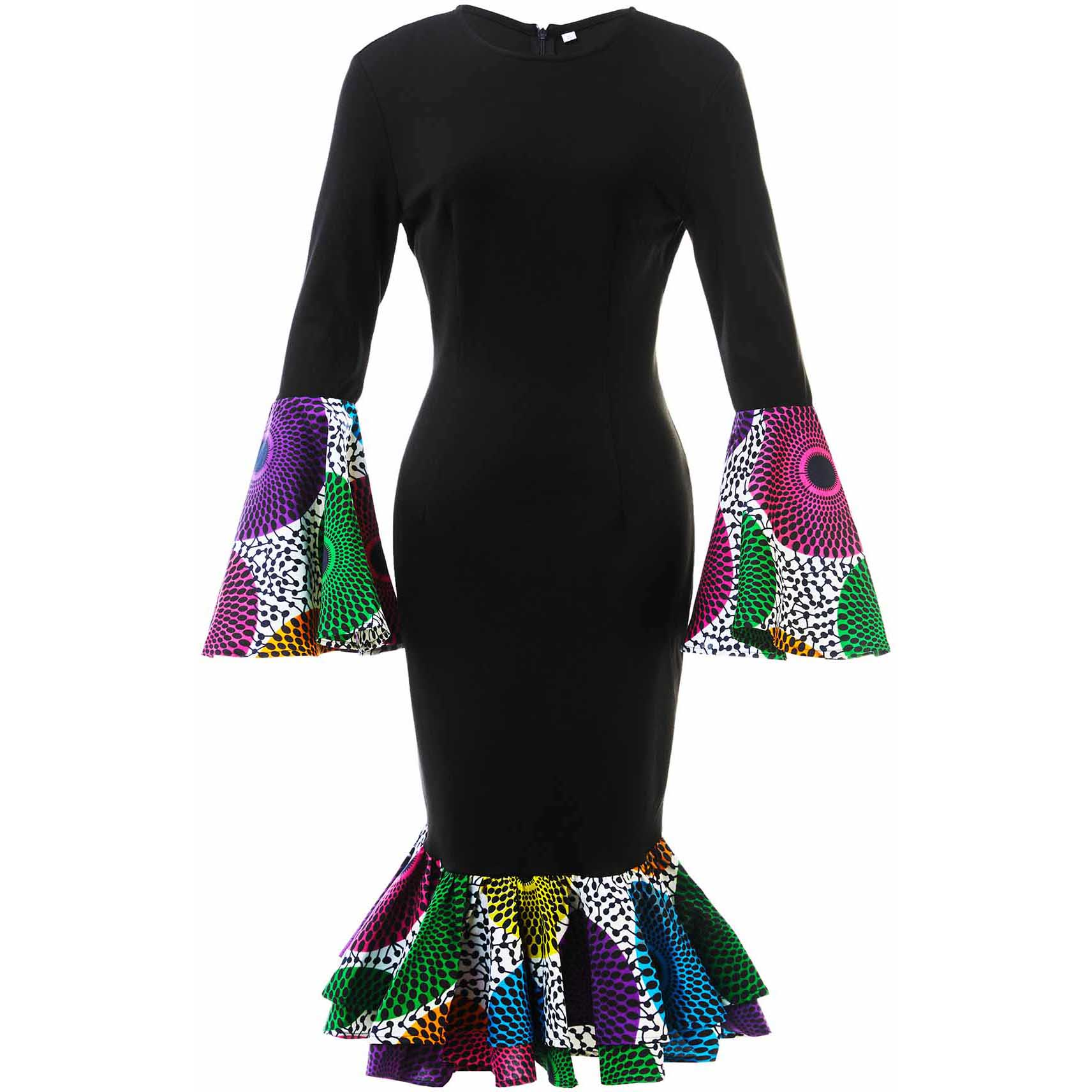 Dashiki African Dresses For Women Cotton Material African Women Clothing African Traditional Dresses Long Sleeve Ankara Dresses