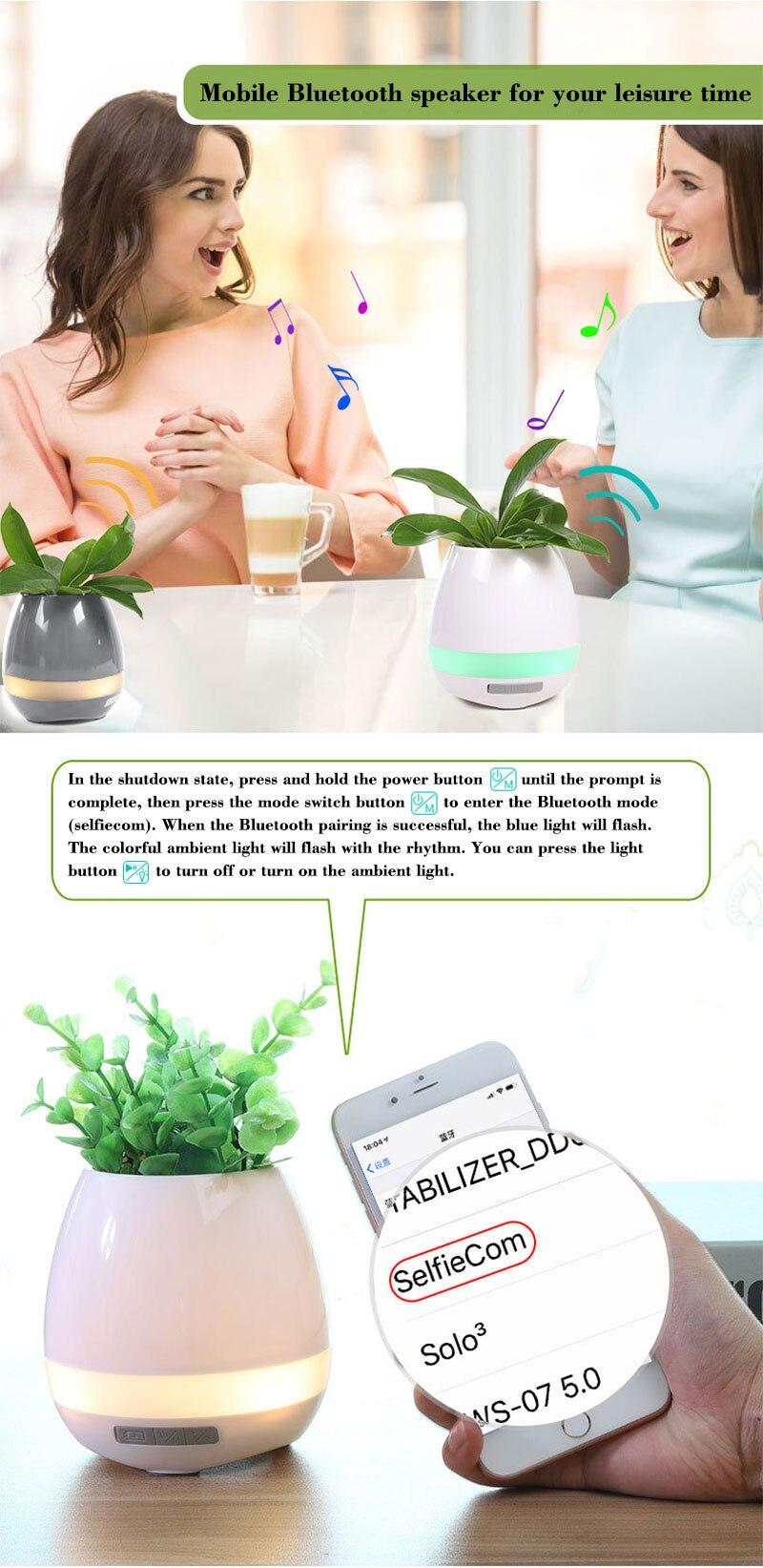 Bluetooth Speakers Music Flowerpot Smart Plant Pots 2