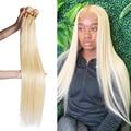 Wigirl 28 30 дюймов прямые волосы пряди 100% пряди человеческих волос для наращивания бразильские волосы категории virgin пряди цвет 613 для черные жен...