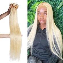 Wigirl 28 30 polegada pacotes de cabelo em linha reta 100% extensão do cabelo humano brasileiro tecer pacotes cor 613 para a mulher negra remy
