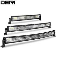 22 32 42 zoll 3 Reihe Curved LED Light Bar combo Strahl 12v 24v Led Bar für 4x4 Lkw ATV Auto Offroad Fahren arbeit lampe