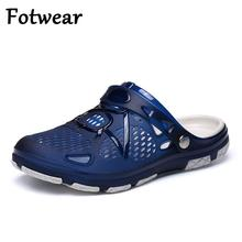 Fotwear Men Sandals Breathable Summer Outdoor Beach Slides Lightweight Men's Sneakers Slip On Slippers Flat Leisure Water Shoes